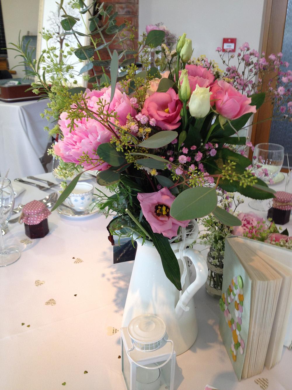 Pink Summer Vintage Ceramic Vase